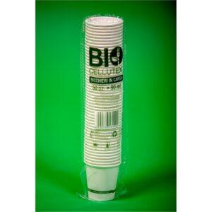 Bicchieri in Cartoncino Biocompostabile P.L.A.